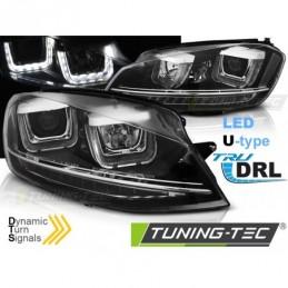 PHARES AVANTS U-LED LIGHT DRL BLACK SEQ fits VW GOLF 7 11.12-17