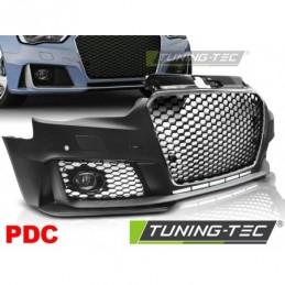 PARE CHOCS AVANT SPORT CHROME BLACK PDC fits AUDI A3 12-16