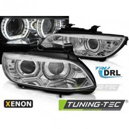 XENON PHARES AVANTS ANGEL EYES LED CHROME fits BMW E92/E93 06-10
