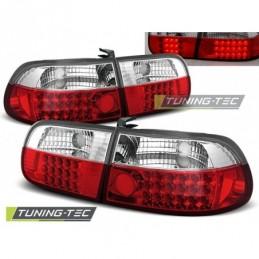 HONDA CIVIC 09.91-08.95 3D RED WHITE LED, Civic 5 92-95