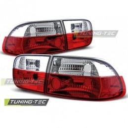 HONDA CIVIC 09.91-08.95 2D/4D RED WHITE, Civic 5 92-95