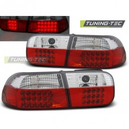 HONDA CIVIC 09.91-08.95 2D/4D RED WHITE LED, Civic 5 92-95