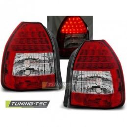 HONDA CIVIC 09.95-02.01 3D RED WHITE LED, Civic 6 96-00